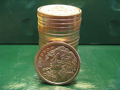 """20 """"2013 Freedom Girl"""" 1 oz .999 Copper 20 beautiful rounds Limited & Rare"""