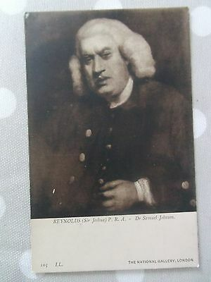 Old antique POSTCARD Dr Samuel Johnson by Sir Joshua Reynolds National Portrait