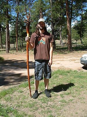 "7'4"" BIG and TALL Wizard Staff - Gandalf Style Staff  – Tree Staff"