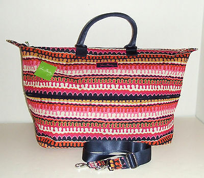 NWT Vera Bradley Lighten Up Expandable Travel Bag Rio Squiggle Carry On Tote