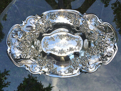 VERY RARE CUSTOM PATTERN Gorham Sterling Large Bowl w Different Nude Musicians