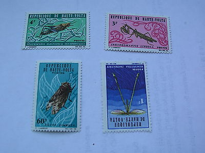 Upper volta 4 insect stamps from 1966