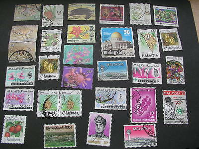 Selection of stamps froim Malaysia used and hinged