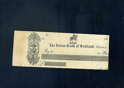 The Union Bank of Scotland Limited 18**  Specimen Cheque, Paisley
