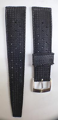 """""""Tropic"""" Style Diver's Watch Rubber Strap, Vintage NOS 20mm, Perforated"""