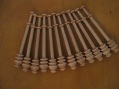 "Bobbin Lace Bobbins 12 Danish style wood bobbins ~4"" to be beaded"