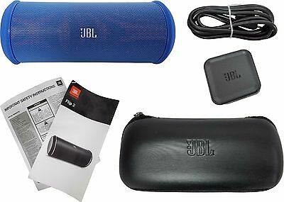 JBL Flip 2 Portable Wireless Bluetooth Stereo Speaker NFC Harman Kardon Blue New