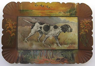 VINTAGE German Short Hair Pointer - Hunting  Dog  ADVERTISING TIP TRAY