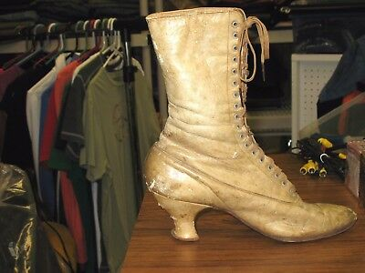 Genuine Vintage Victorian Era Women's Leather Lace Up Boot 1800s - 1900s