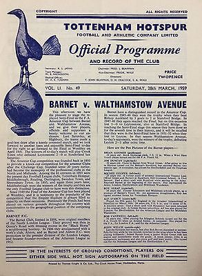 Barnet v Walthamstow Ave - 1959 Amateur cup Semi final Replay @ White Hart Lane