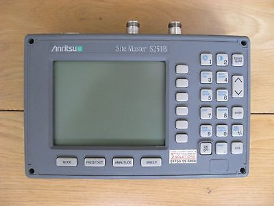 Anritsu Site Master S251B Two Port Analyser, 625 MHz to 2500 MHz, Option 10A