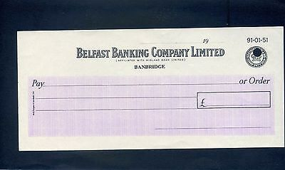 Unused Belfast Banking Company Limited  19**  Bank Cheque