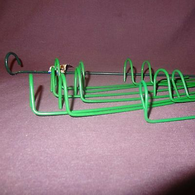 """Lot of 12 Plant Prop Green Single Loop Metal Supports Mixed 11 are 7"""" 1 is 18"""""""