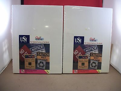 """2 Boxes of 25 New USI Opti Clear Letter Pouches 9"""" x 11.5"""" -  10 & 15 Mil Thick"""
