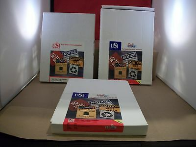 """3 Boxes of 25 New USI Opti Clear Letter Pouches 9"""" x 11.5"""" -  10 Mil Thick"""
