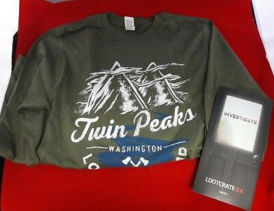Loot Crate DX Exclusive April 2017 Twin Peaks Long-Sleeved T-Shirt 2XL XXL NEW