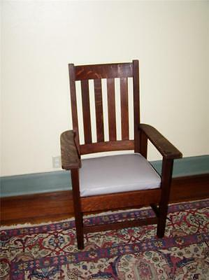 STICKLEY  HIGH BACK  ARTS&CRAFTS  OAK CHAIR   SIGNED  #891 1/2..reduced 1 week