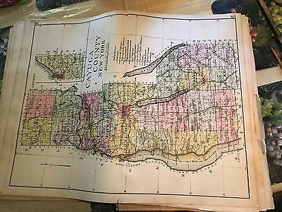 Cayuga County Map from 1910 New Century Atlas of New York State