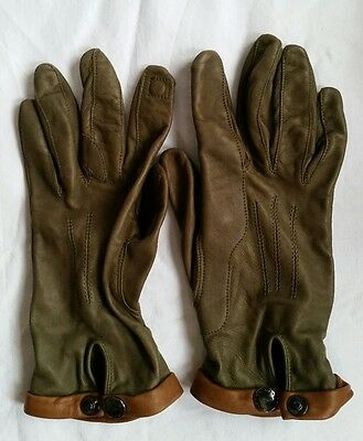 Holland & Holland London leather hunting shooting gloves rrp500