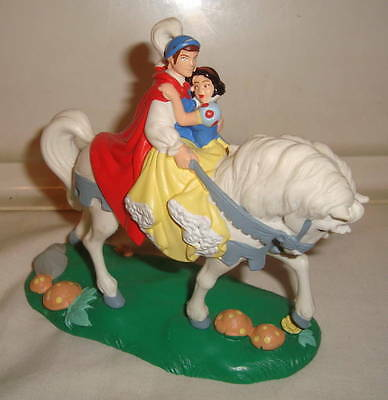 Disney Snow White Prince & Horse Large Pvc Figure Cake Topper Special Edition