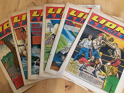 6X Lion & Eagle Comic 1969 Silver Age UK Comic