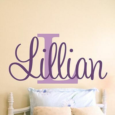 Girls Personalized Name Vinyl Wall Decal Bedroom Nursery Sticker Home Decor