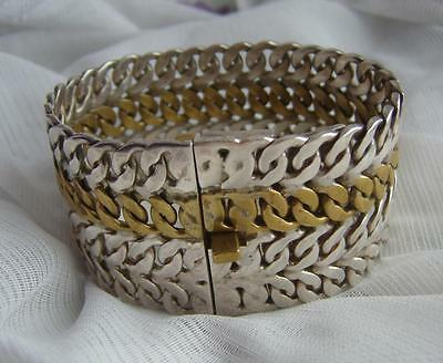 Very HEAVY Vintage STERLING Silver MEXICAN Bracelet TAXCO Mexico Weighs 130.78g!