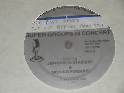 JEFFERSON STARSHIP / MISSING PERSONS - Supergroups In Concert 3LP (5/7/83)