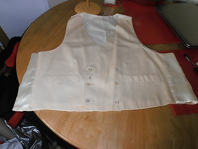 """Vtg Ivory Double Breasted  Formal Waistcoat size 44"""" L 21"""""""