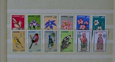 1973 - 1974 Andorra (French Colonies) MH Stamp Coll #6 (D005Andorra)