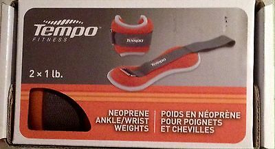 Tempo Fitness Neoprene wrist/ankle weights (1lbs)
