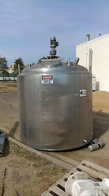 Crepaco 1000 Gallon Jacketed Stainless Steel Process Processing Tank w/ Agitator