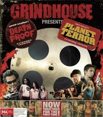 Death Proof / Planet Terror DVD [Extended] [Grindhouse Double]  [Region 4] [New]