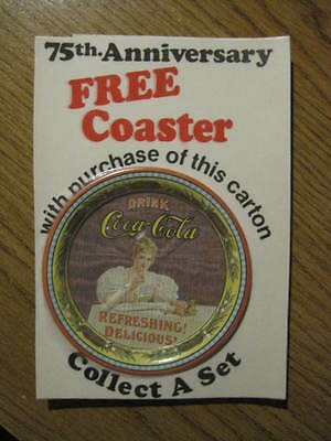 75th Anniversary Coca-Cola Coaster in Sealed Original Package, Louisville 1970s