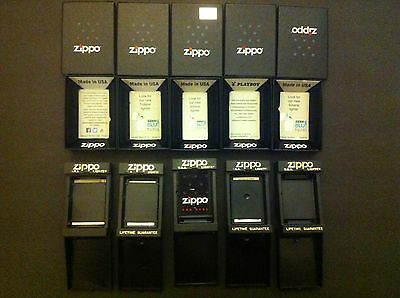 Zippo Modern Box And Vintage Case Lot Of 10  On Sale Now!