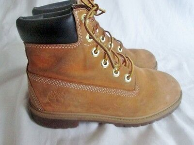 Youth TIMBERLAND KIDS Basic WATERPROOF Leather HIKING Boots WHEAT 4.5 BROWN
