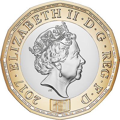 United Kingdom Nations of the Crown 12-sided 2017-dated UK £1 Brilliant UNC Coin