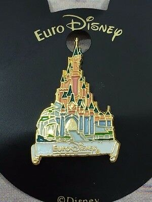 Euro Disney Castle Pin RARE with cardboard backing NEW