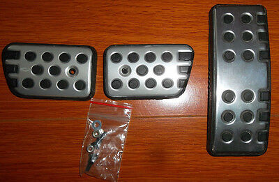 Genuine Ford Ba Bf Falcon Fpv Gt Xr Sports Alloy Metal Finish Pedal Kit 5 Speed
