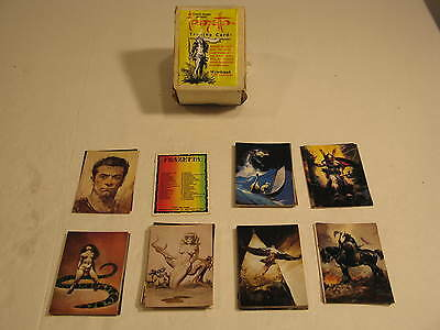 Frank Frazetta Art Trading Cards Series I Complete with Original Wrapper on Box