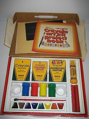 Vintage Crayola Art Kit A Young Artist's Workshop in a Carring Case Circa 1980