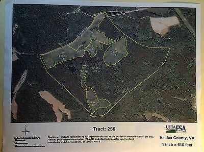 Large Tract of 198 Acres of Land In Northern Halifax County, Virginia
