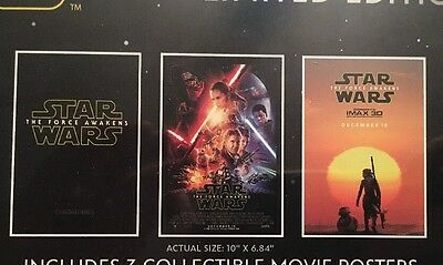 Star Wars The Force Awakens 3 Collectible Posters And Free Digital Movie New