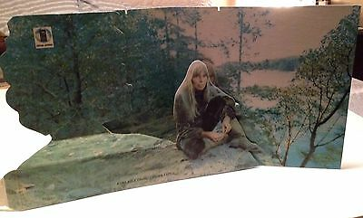 Joni Mitchell 1972 For The Roses Poster Promo Display Cardboard 3-D Folk LP