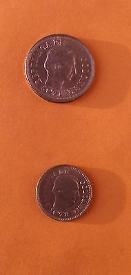 Two 1971 Columbian Coins