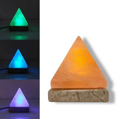 USB Colour Changing Pyramid Shape Himalayan Pink Salt Lamp Color Change LED