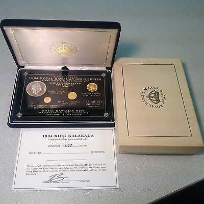 1994 Royal Hawaiian Gold Series - First Gold & Silver Proof Coin Set #ed 390/950