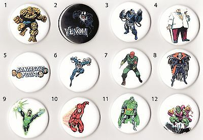 Lot of 12 - 2.25'' Comic Book Magnets - You choose from 48 designs!! Marvel - DC
