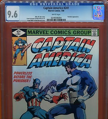 Captain America #241 CGC 9.6 - Frank Miller cover - Punisher appearance - 1980