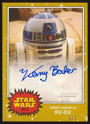 2017 Topps Star Wars On Demand May the 4th KENNY BAKER Gold Autograph #1/1 Auto